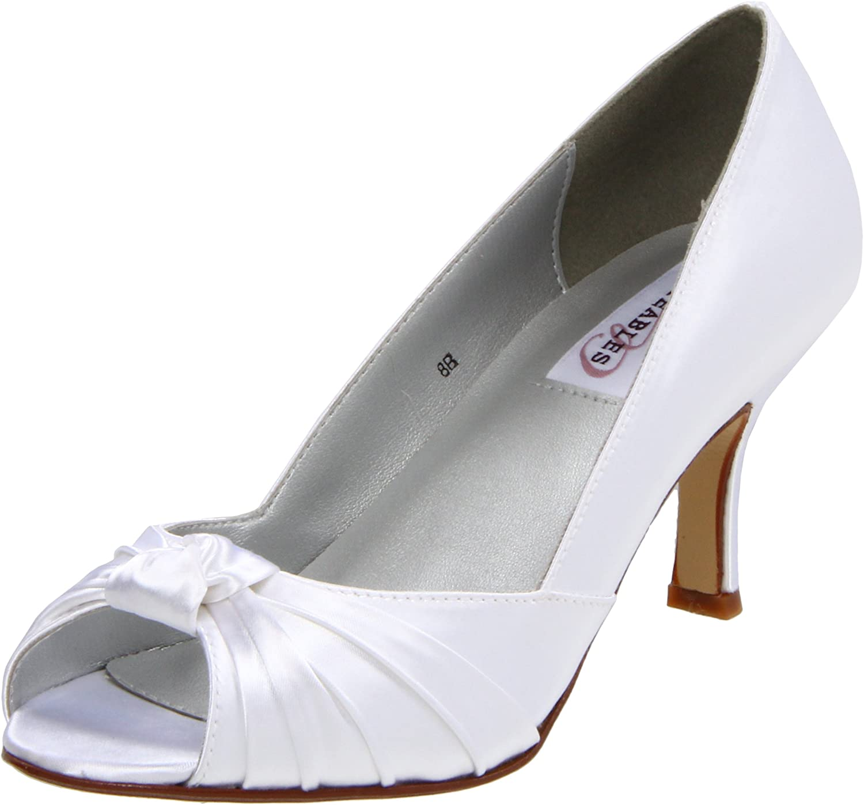 Dyeables Damen Ida, Weiß-Weiß Satin, 37.5 EU