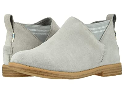 TOMS Kids Leilani (Toddler/Little Kid) (Drizzle Grey Suede) Girl