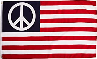 Quality Standard Flags Peace USA Standard Polyester Flag, 3 by 5'