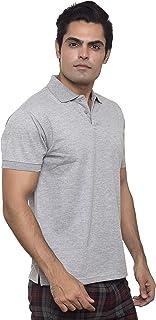 Santhome Cotton Polo Shirt for Men - Grey Melange