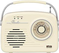 Silva-Schneider Mono 1965, Kofferradio, Netz- oder Batteriebetrieb, beige