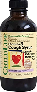 ChildLife Essentials Formula 3 Cough Syrup for Infants, Babys, Kids, Toddlers, Children, and Teens Natural Berry Flavor, 4...