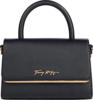 Tommy Hilfiger Damen Tasche Modern Bar Bag Strap Henkeltasche Synth. glatt/genarbt blau