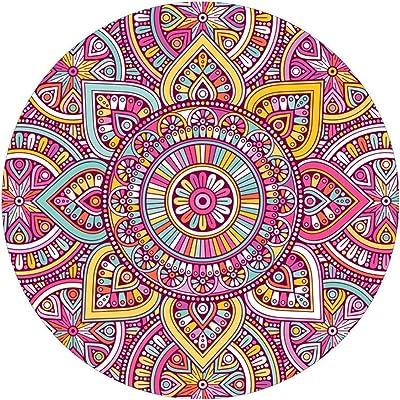 Amazon.com: ErosD Bohemian Round Carpet Coffee Table Living ...