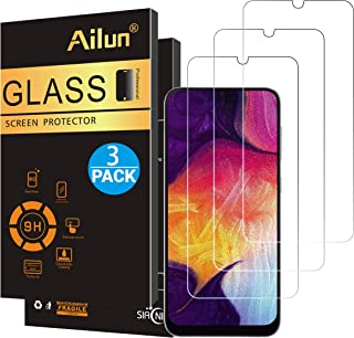 Ailun Screen Protector for Samsung Galaxy A50,A30,A50s,A30s,A40,M30,M31 Tempered Glass Screen Protector 3Pack 9H Hardness 2.5D Edge,Case Friendly