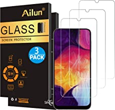 Ailun Screen Protector for Samsung Galaxy A50,A30,A50s,A30s,A40,M30,M31 Tempered Glass Screen Protector 3Pack 9H Hardness ...