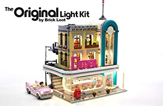 Brick Loot Lighting KIT for Downtown Diner Lighting Kit for Your Lego Set 10260 - Lego Set NOT Included