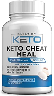 Sponsored Ad - Carb Blocker - 1200mg White Kidney Bean Extract - Keto Cheat Meal - Best Carb, Starch, Fat Blocker for The ...