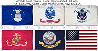 armed service flags