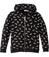 Moschino Kids - Hooded Sweatshirt w/ All Over Logo Print (Big Kids)