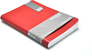 "Zequenz Classic 360 Soft Cover Notebook, Soft Bound Journal, Red, Medium, 5"" x 7"", 200 Sheets / 400 Pages, Ruled, Lined Paper"