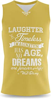 Rainbow Rules Laughter is Timeless Walt Disney Quote Mens Sleeveless Tank Top