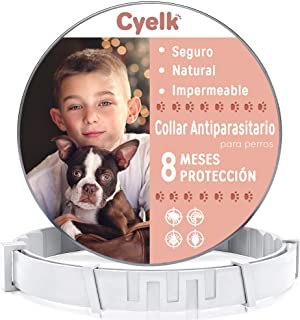 comprar comparacion Cyelk Collar Antiparasitos Perro, contra Garrapatas y Pulgas, Collar Antipulgas Perro Natural Hipoalergénicos para Mascota...