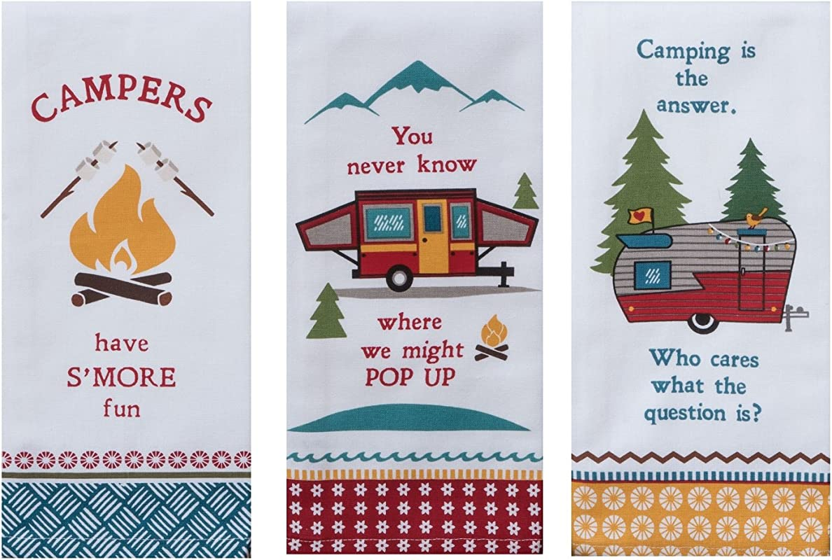 Kay Dee Designs Camping Life Kitchen Tea Towels Set Of 3