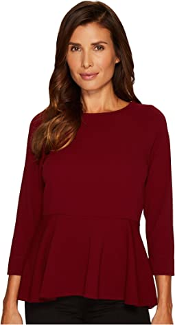 Ivanka Trump - Long Sleeve Novelty Knit Peplum
