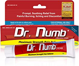 Best Dr. Numb 5% Lidocaine Topical Anesthetic Numbing Cream for Pain Relief, Maximum Strength with Vitamin E for Real Time Relieves of Local Discomfort, Itching, Pain, Soreness or Burning - 30g Review