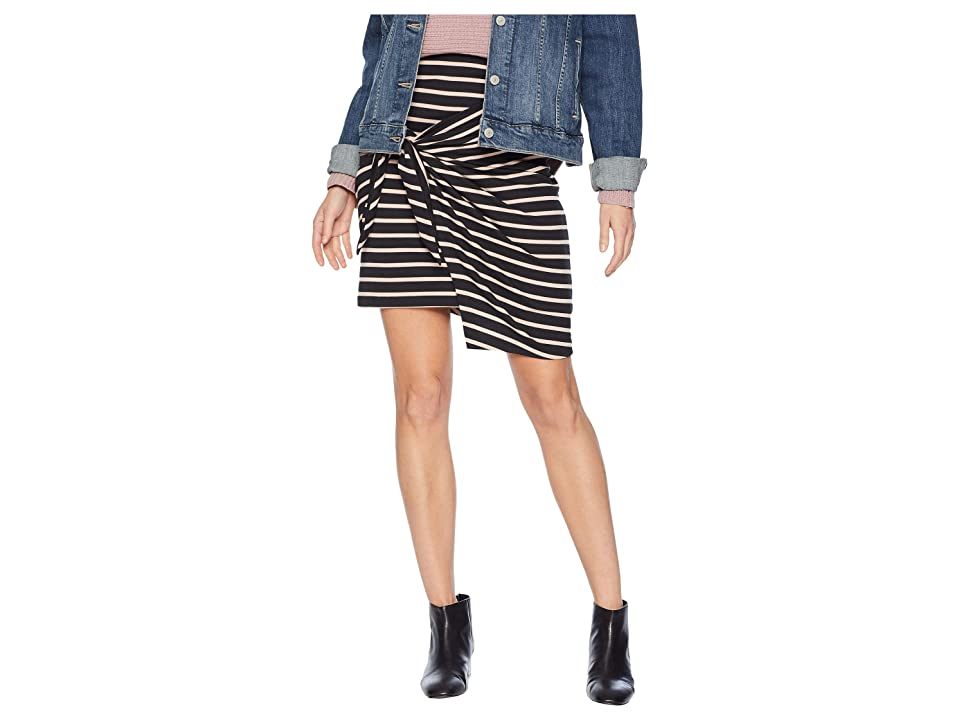 Tavik Dallas Skirt (Black/Seashell Stripe) Women