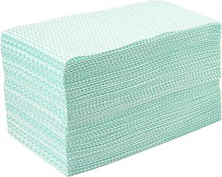 ストリックスデザイン カウンタークロス 100枚 グリーン 約30×61cm 使い捨て 不織布 ふきん テーブルダスター 繰り返し使える 業務用 J-118