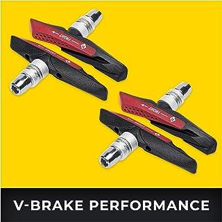 V-Brake Zapatas Freno 2 Par 72mm Asymmetric I para Shimano, Tektro, Avid, Sram, XLC etc I High Wet Braking Performance I Durable & Ajuste V Pastillas de Freno Bicicleta
