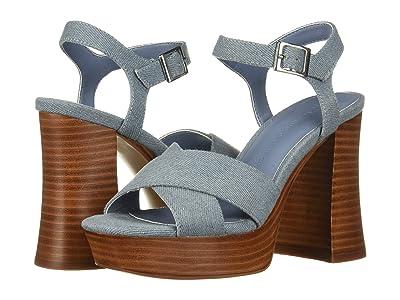 Cupcakes and Cashmere Harmon-D Platform Sandal (Blue Denim) Women