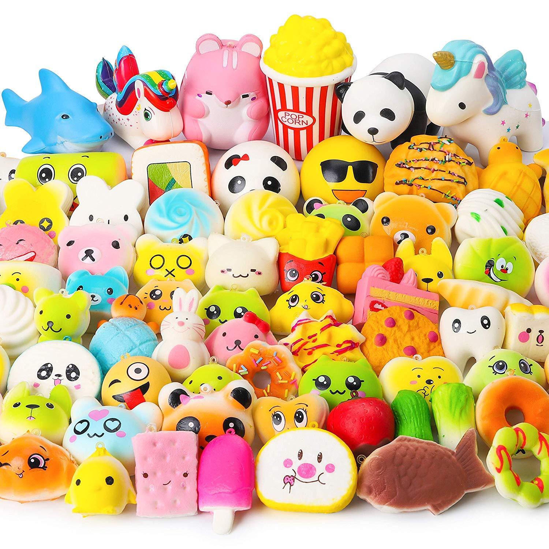 Juguetes Squishy de Hinchado Lento Paquete Surtido de 10 Squishies: Kawaii de Comida Gigante Bollo Pan Donuts Panda Suaves y Blandos Jumbo Medio y Mini - Amuletos de Móvil Llavero Correa: Amazon.es:
