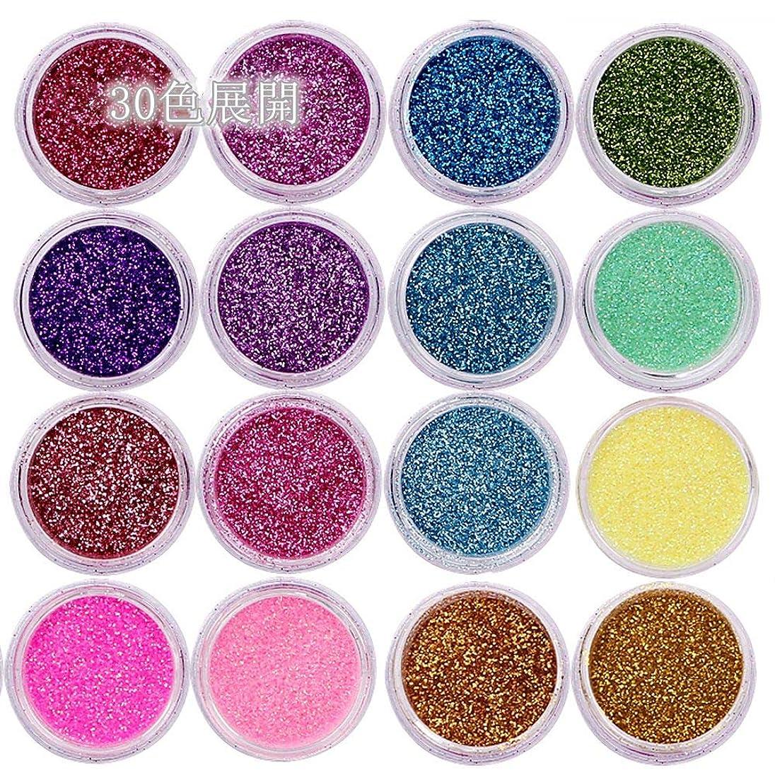 粒生命体独立した30個のネイルグラスの色の揃ったネイルアートファイングリッターズパウダーダストUVジェルポーランドアクリルネイルチップメイクアップツール