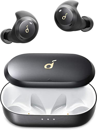 discount Soundcore by Anker Spirit Dot 2 True Wireless Earbuds, Deep Bass, online IPX7 Waterproof, Sweatproof, 16H Playtime, Fast Charge, Comfortable AirWings, Bluetooth 5, Sports Earphones, online Workout, Gym, Jogging outlet sale