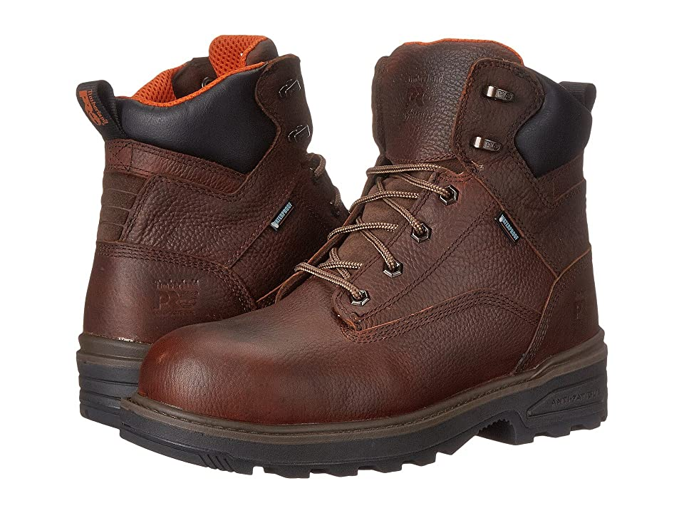 Timberland 6 Resistor Composite Safety Toe Waterproof Boot (Brown 2) Men