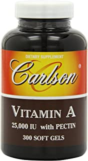 Carlson Labs Vitamin A with Pectin, 25000 IU, 300 Softgels