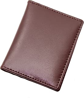 TOPSUM LONDON Minimalist Cardholder RFID Blocking Ultra Slim Genuine Leather Credit Card Case Wallet Gift Boxed 4022 (Brown)