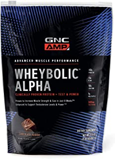 GNC AMP Wheybolic Alpha Whey Protein Powder, Chocolate Fudge, 9 Servings, Contains 40g Protein and 15g BCAA Per Serving