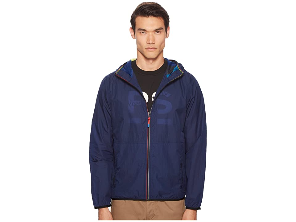 Paul Smith Nylon Hooded Jacket (Blue) Men