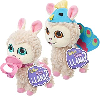 Who's Your Llama Collectible Plush Friends [Amazon Exclusive], Peacock & Baby Llama