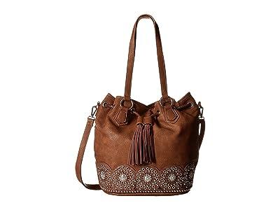 M&F Western Rhianna Bucket Bag (Brown) Handbags