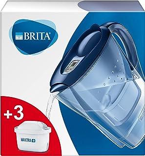 BRITA Marella waterfilterkan voor vermindering van chloor, kalk en onzuiverheden, Inclusief 3 x MAXTRA+ filterpatronen, 2,...