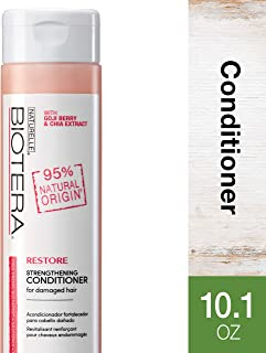 Biotera Natural Origin Restore Strengthening Conditioner, with Goji Berry and Chia Extract/Free from SLS/Up to 97% Natural Origin SLES Sulfates, Silicones, Parabens, Dyes and Gluten, 10.1-Ounce