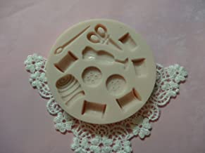 Sewing Box Fashion Designer Set Silicone Mold By Oh! Sweet Art FDA Approved for Food