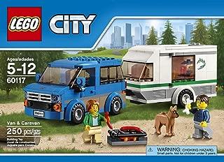City Car LEGO 250 PCS Van & Caravan Brick Box Building Toys