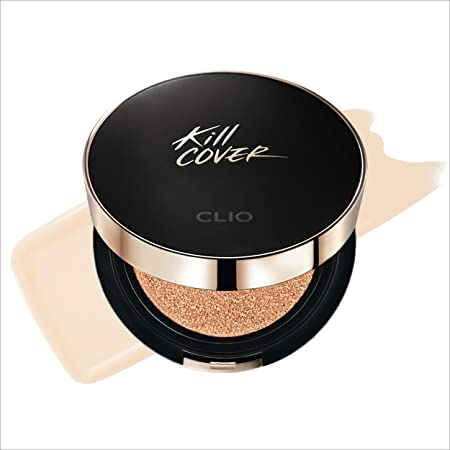 Amazon.com : CLIO Kill Cover Founwear Cushion XP | 48 Hour Longwear Coverage,  Velvet Finish, SPF 50+ PA+++, Oil Control, Free Refill | Lingerie (#02),  0.52 oz x 2 ea : Beauty
