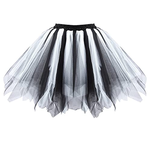 60841b54e Honeystore Women's Short Vintage Ballet Bubble Puffy Tutu Petticoat Skirt
