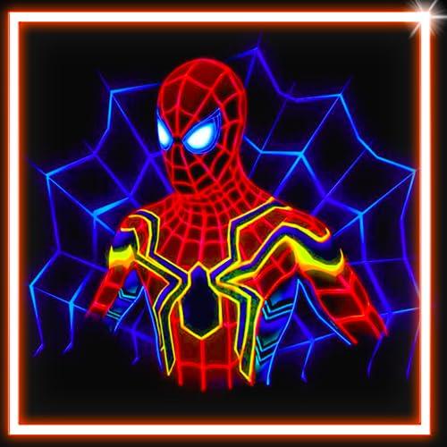 Draw Neon Glow Super Hero Coloring Book