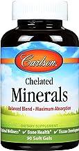 Carlson - Chelated Minerals, Balanced Blend - Maximum Absorption, Optimal Wellness, Bone Health & Tissue Development, 90 s...