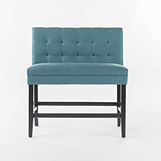 Christopher Knight Home Dawn Fabric Counterstool, Teal, Dark Brown