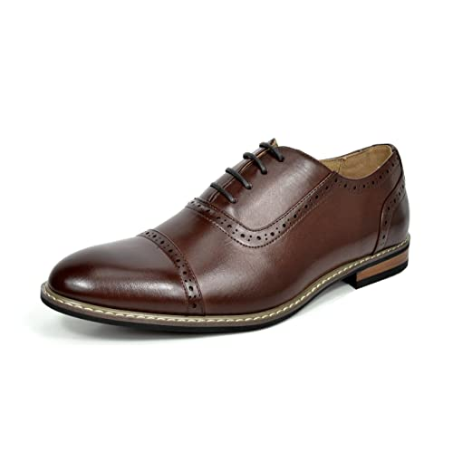DREAM PAIRS Bruno Marc Moda Italy Mens Prince Classic Modern Oxford Wingtip Lace Dress Shoes
