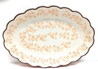"Temp-tations Clamshell Oval Baker 4.5 Qt, 18"" x 12"" (Floral Lace Spice) U113"