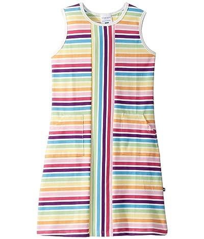 Toobydoo Mod Dress (Toddler/Little Kids/Big Kids) (Rainbow Stripe) Girl