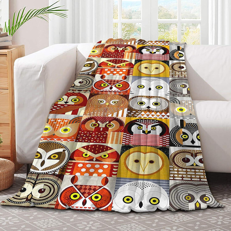 321DESIGN free Multi-Color Regular store Stitching Multi-Species Cute Owls Microfib