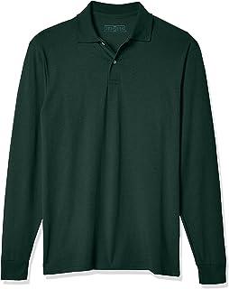 Jerzees Mens Spot Shield Long Sleeve Polo Sport Shirt Polo Shirt