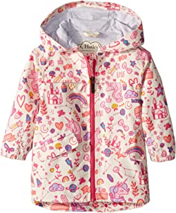 Unicorn Doodles Microfiber Rain Jacket (Toddler/Little Kids/Big Kids)