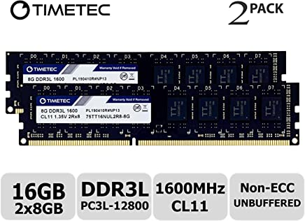 Timetec Hynix IC 16GB Kit (2x8GB) DDR3L 1600MHz PC3L-12800 Non ECC Unbuffered